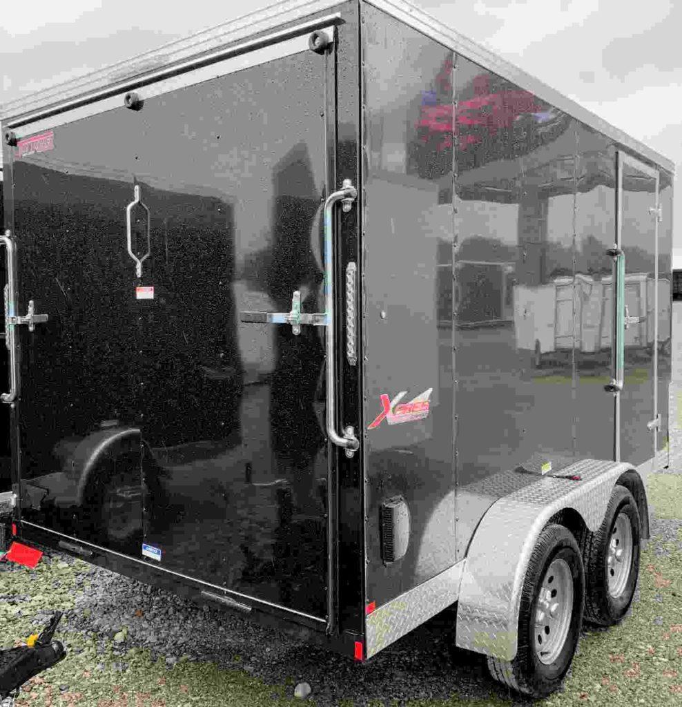 7X16 Tandem Xpres Cargo Trailer rear ramp