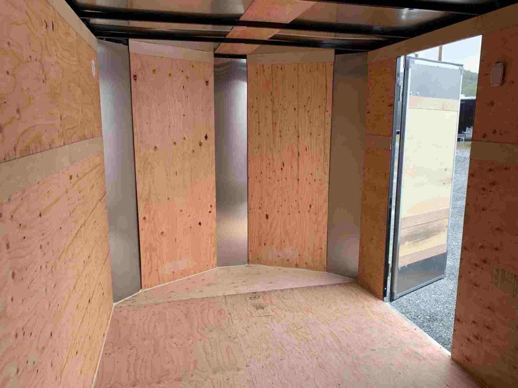 7X16 Tandem Xpres Cargo Trailer inside