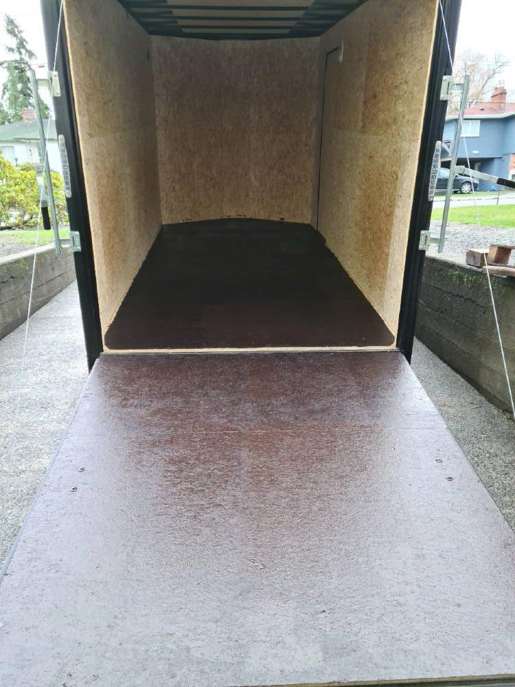 7x14 cargo trailer inside