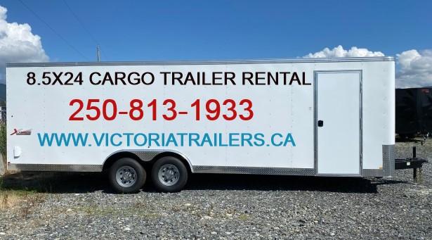 8.5×24 Enclosed Cargo Trailer Rental