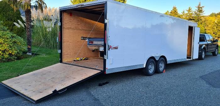 Enclosed Cargo and Dump Trailer Rentals in Victoria BC.