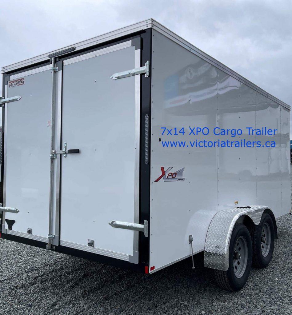 7x14 mirage xpo cargo trailer barn doors